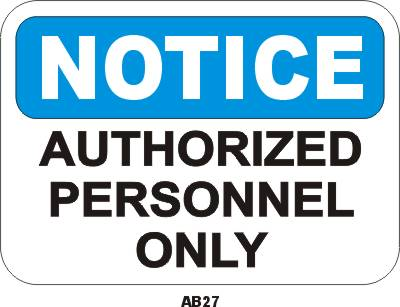 A827P Authorized Personnel