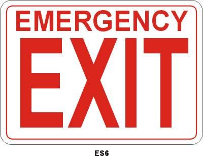 ES6P Emergency Exit