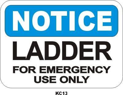 KC13P Ladder Emergency Use