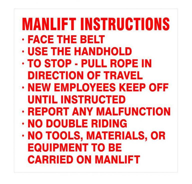 KC28P Manlift Instructions