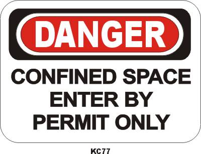 KC77V confined space permit only